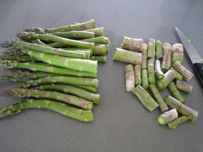Sauté d'asperges aux oignons et poivron - 3.3