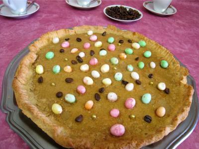 Recette Assiette de tarte pascale au café
