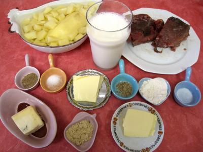 Ingrédients pour la recette : Thon à la vapeur gratiné au gorgonzola