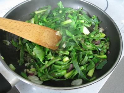 Omelette d'asperges au chou et aux ognasses - 6.2