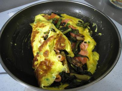 Omelette d'asperges au chou et aux ognasses - 10.2