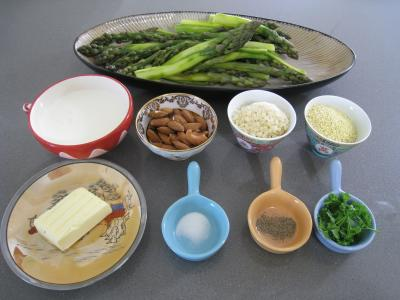 Ingrdients pour la recette : Asperges gratines