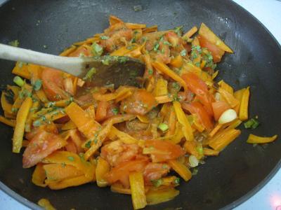 Sauté de carottes et fèves à la semoule - 8.1