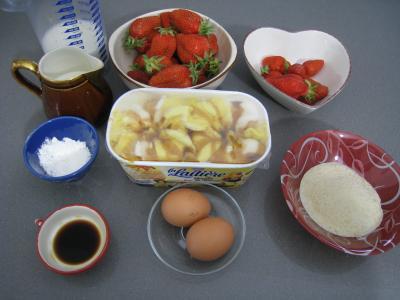 Ingrédients pour la recette : Sauce glacée aux fraises
