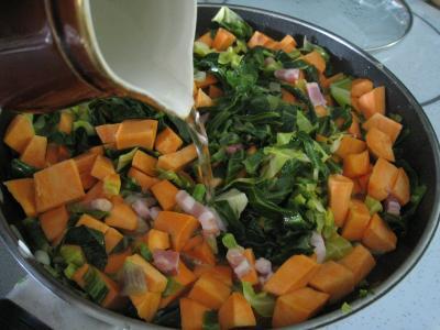 Sauté de chou pointu aux patates douces - 5.3