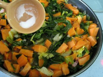 Sauté de chou pointu aux patates douces - 6.3
