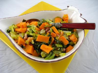 Image : Saladier de chou pointu aux patates douces