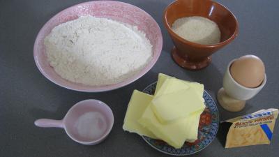 Ingrédients pour la recette : Pâte sucrée