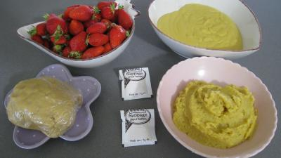 Ingrédients pour la recette : Tarte aux fraises