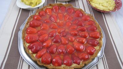 Crème pâtissière : Tarte aux fraises
