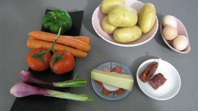 Ingrédients pour la recette : Assiette de crudités