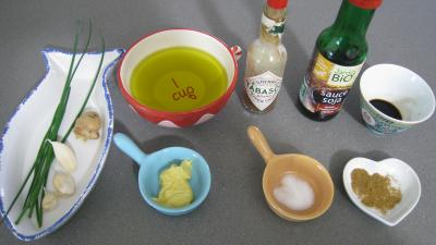 Ingrédients pour la recette : Vinaigrette au gingembre