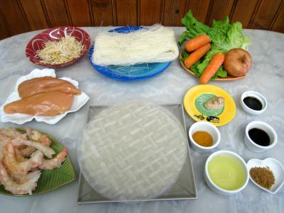 Ingrédients pour la recette : Rouleaux de printemps