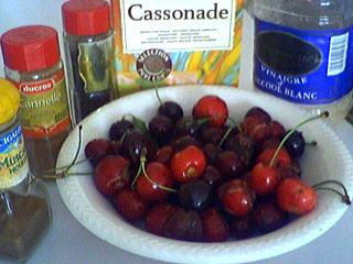 Ingrédients pour la recette : Cerises au vinaigre