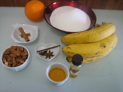 Ingrédients pour la recette : Confiture de cerises et bananes