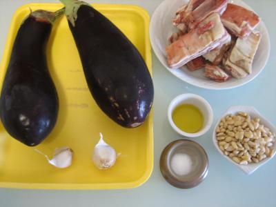 Ingrédients pour la recette : Aubergines farcies façon libanaise