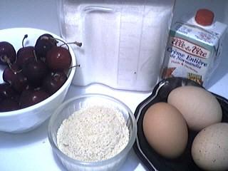 Ingrédients pour la recette : Gratin aux cerises