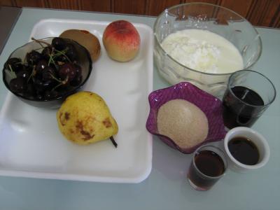 Ingrédients pour la recette : Fromage blanc aux cerises