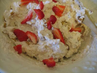 Mousse aux graines de tournesol et son coulis de fraises - 12.2