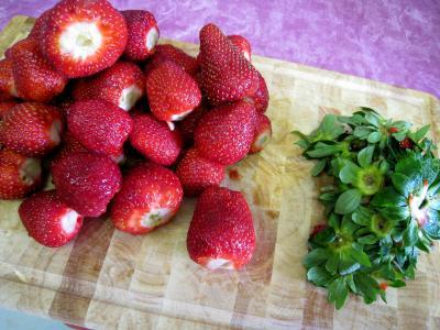 Soupe de violettes à l'ananas et aux fraises - 1.2