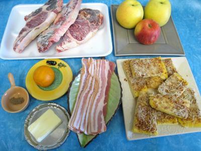 Ingrédients pour la recette : Brochettes de boeuf sucrées-salées
