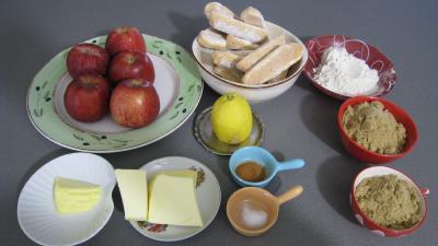 Ingrédients pour la recette : Crumble aux pommes