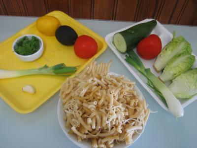 Ingrédients pour la recette : Salade à la Mexicaine et sauce guacamole