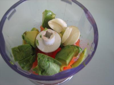 Salade à la Mexicaine et sauce guacamole - 6.3