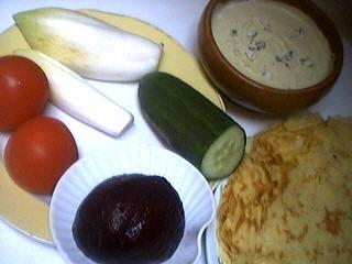 Ingrédients pour la recette : Aumônières de crêpes aux endives