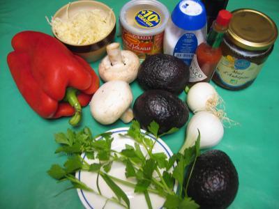 Ingrédients pour la recette : Avocats sautés et gratinés