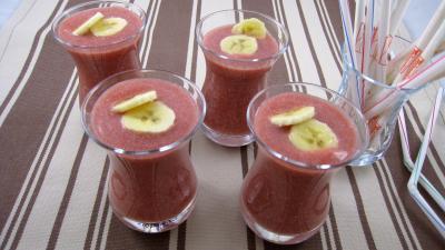 Image : recette Boisson fraises et bananes à la mexicaine