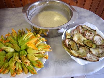 Beignets de fleurs de courgettes et aubergines - 10.1