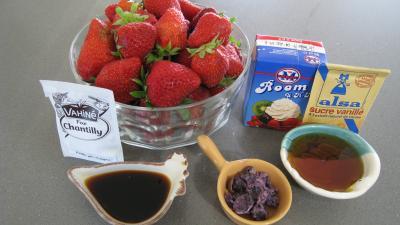Ingrédients pour la recette : Fraises chantilly