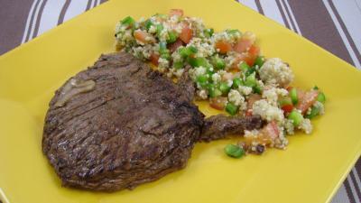grillades : Assiette d'une bavette marinée minceur