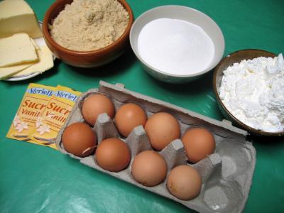 Ingrédients pour la recette : Biscuit génois