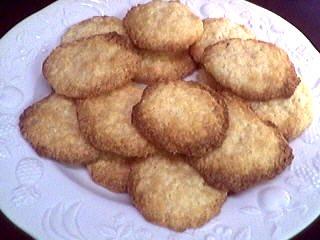 crème entière : Assiette de biscuits à la crème