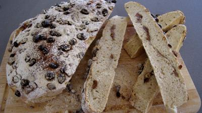 Recette Pain de Gallu aux noix, raisins secs et dattes