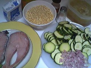 Ingrédients pour la recette : Saumon au blé