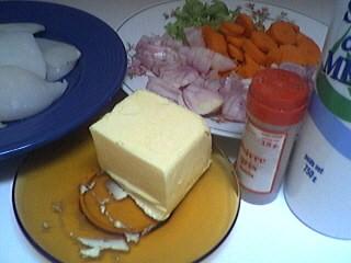 Ingrédients pour la recette : Blancs d'encornets aux carottes