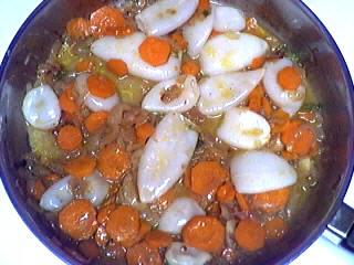 Blancs d'encornets aux carottes - 5.1