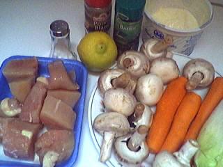 Ingrédients pour la recette : Blancs de poulet en blanquette