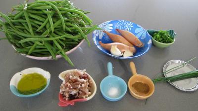 Ingrédients pour la recette : Haricots verts aux lardons