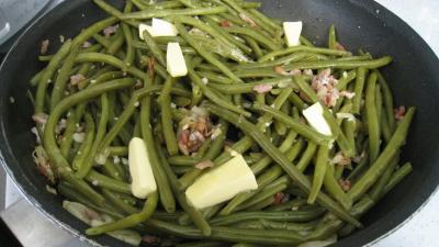 Haricots verts aux lardons - 6.4