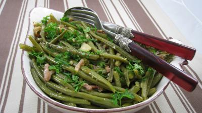 Haricots verts aux lardons - 7.2
