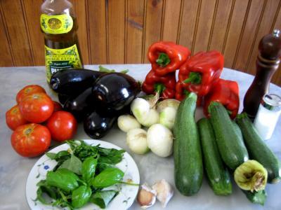 Ingrédients pour la recette : Ratatouille niçoise
