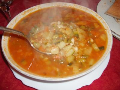 haricots blancs : Wok de soupe au pistou à la niçoise