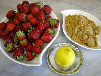 Ingrédients pour la recette : Sorbet aux fraises