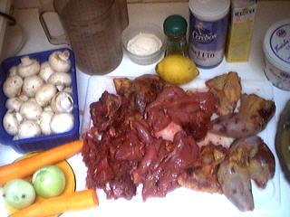 Ingrédients pour la recette : Blanquette de faisan