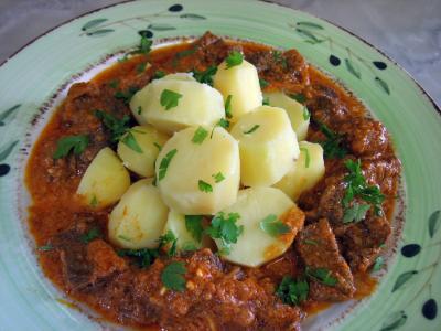 boeuf au curry et aux pommes