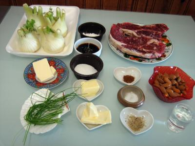 Ingrédients pour la recette : Boeuf aux amandes façon Orientale